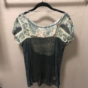Free People Tops - Free People Floral Mesh Top~Size XS